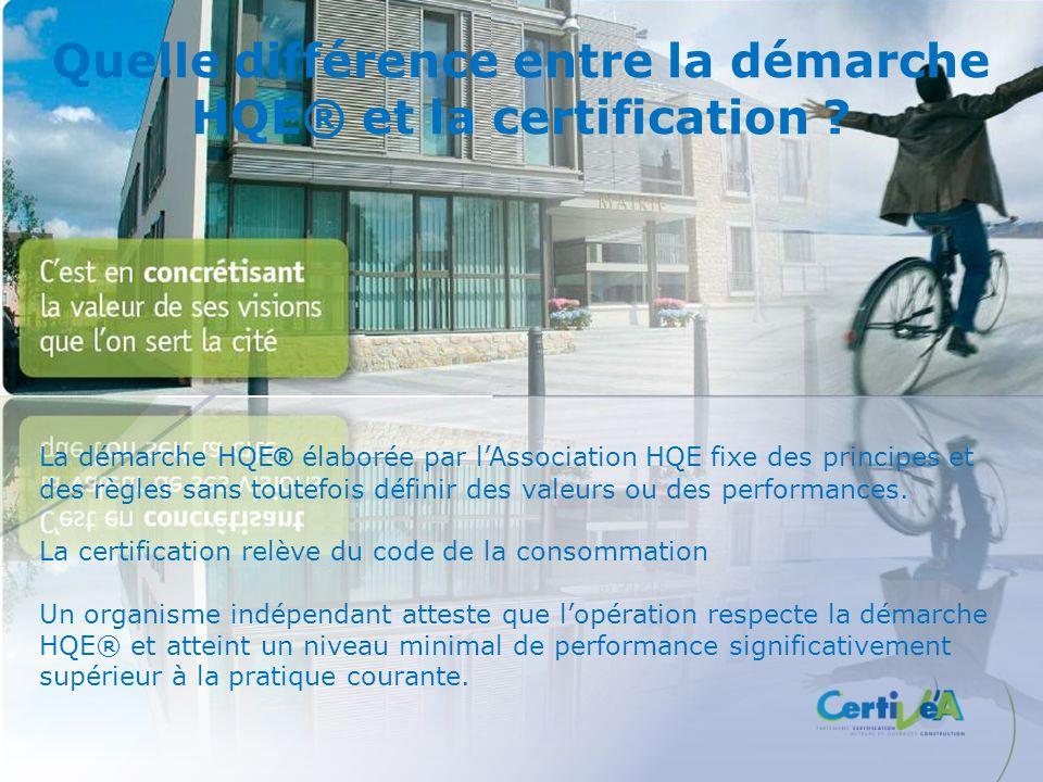 Quelle différence entre la démarche HQE® et la certification