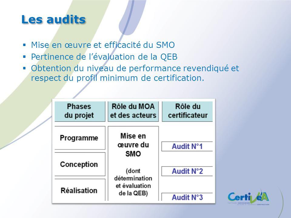 Les audits Mise en œuvre et efficacité du SMO