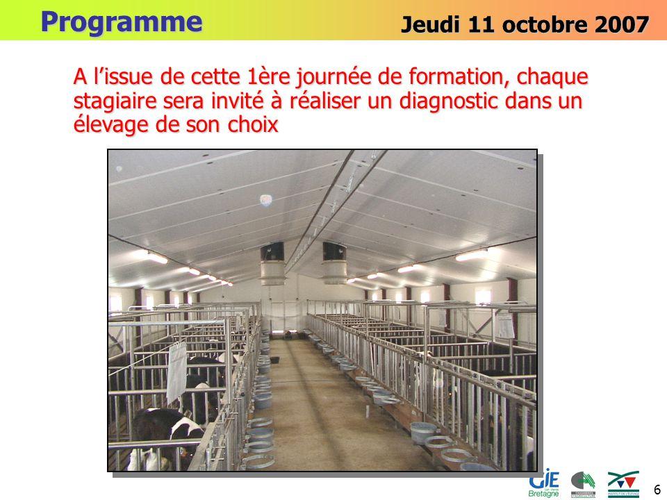 Programme Jeudi 11 octobre 2007