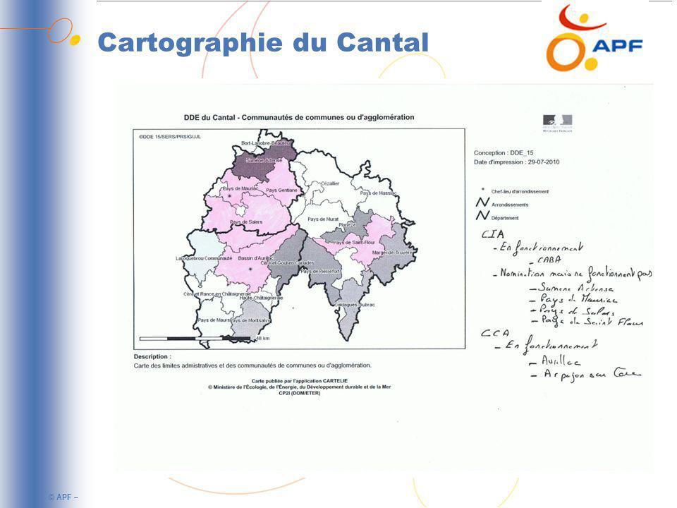 Cartographie du Cantal