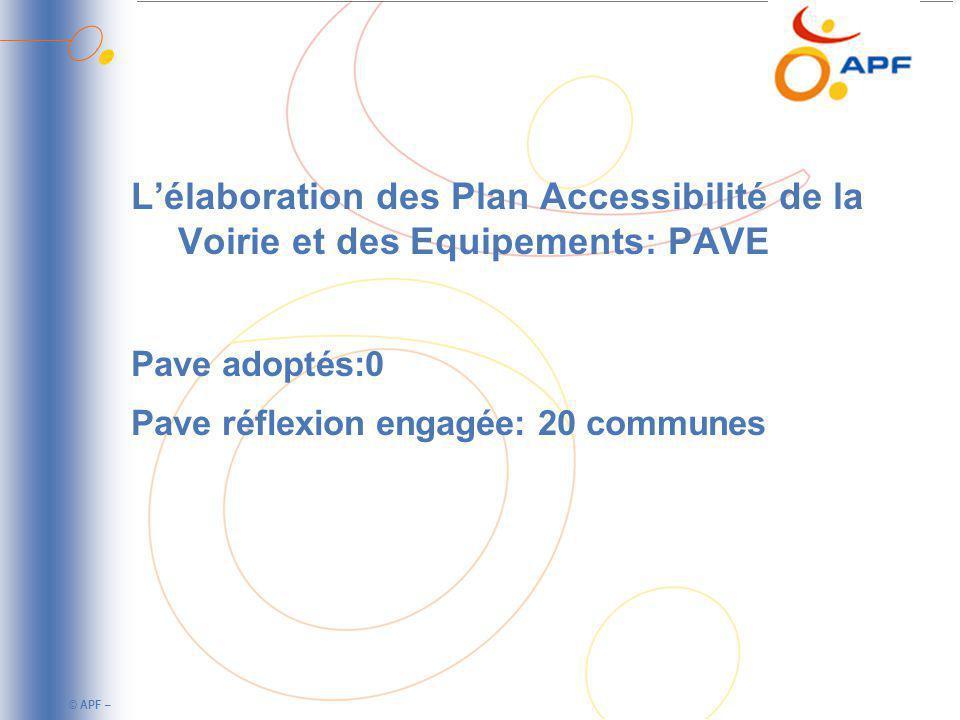 L'élaboration des Plan Accessibilité de la Voirie et des Equipements: PAVE