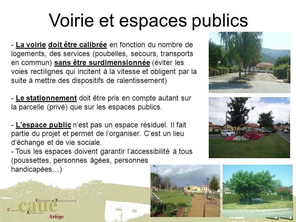 Voirie et espaces publics