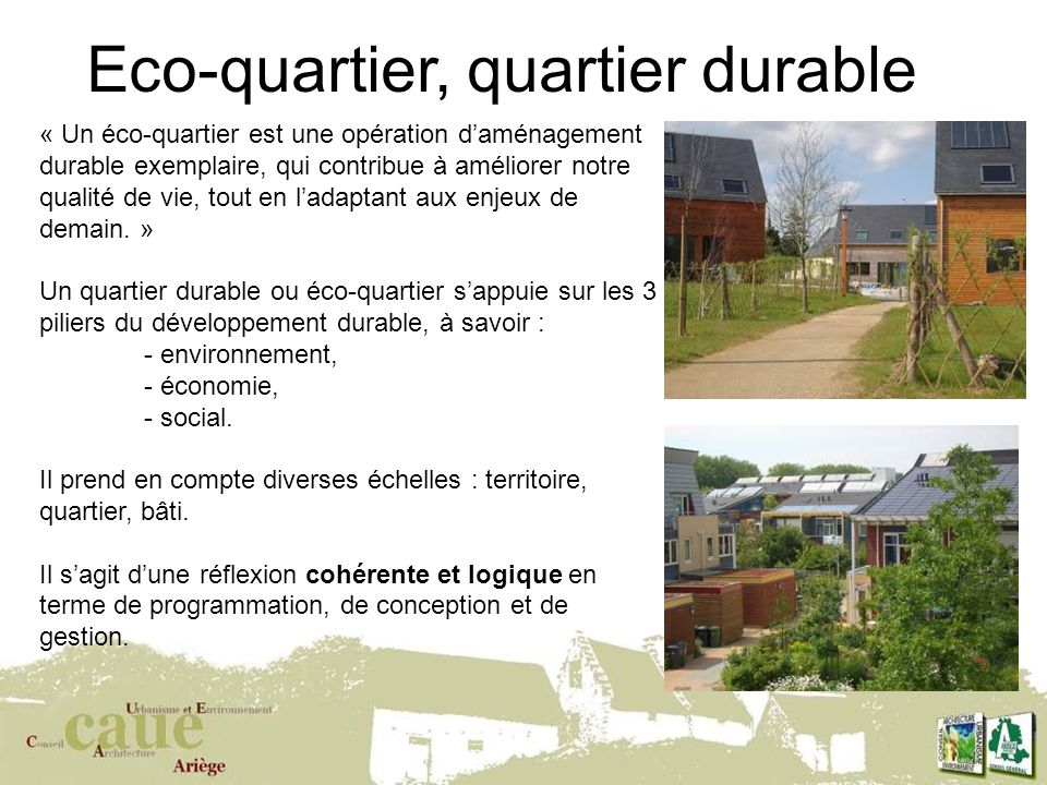 Eco-quartier, quartier durable
