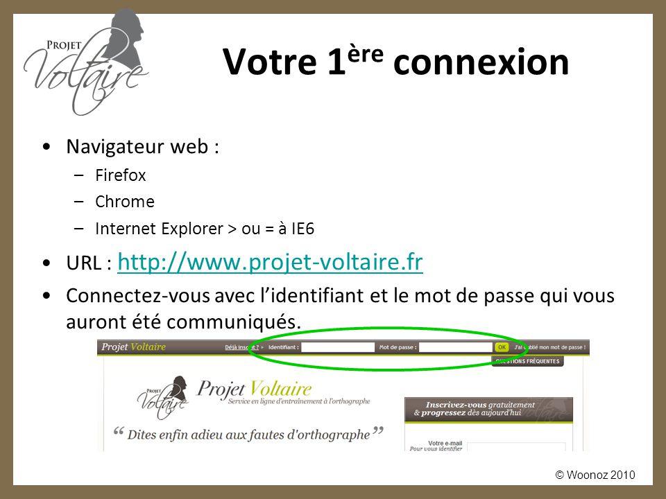 Votre 1ère connexion Navigateur web :