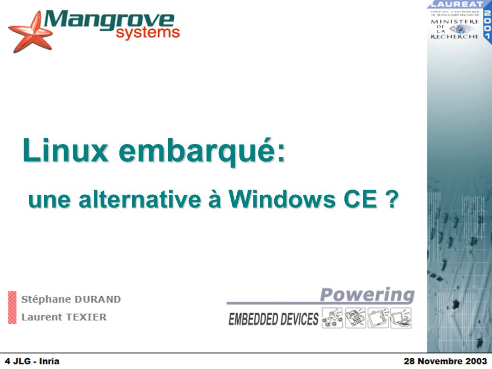 une alternative à Windows CE