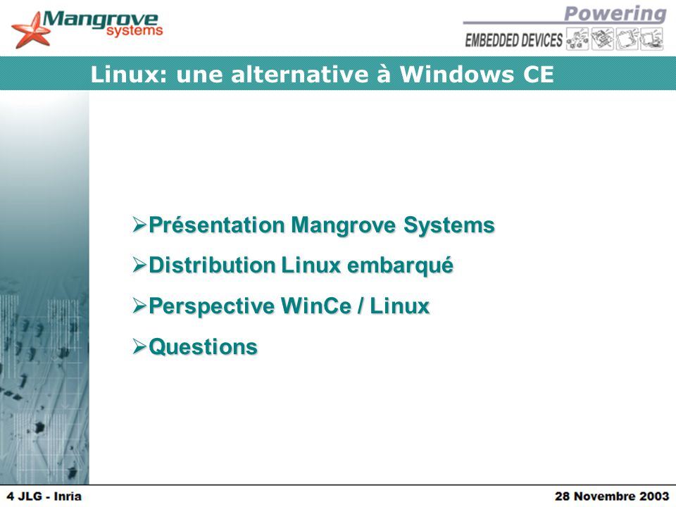 Linux: une alternative à Windows CE