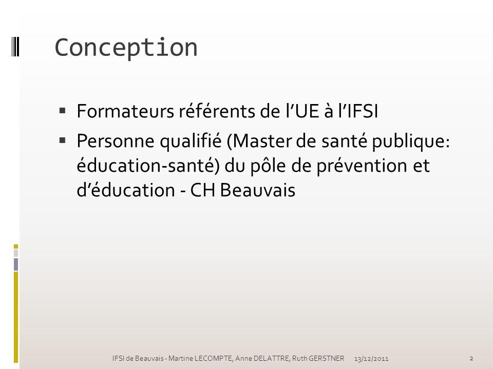 Conception Formateurs référents de l'UE à l'IFSI