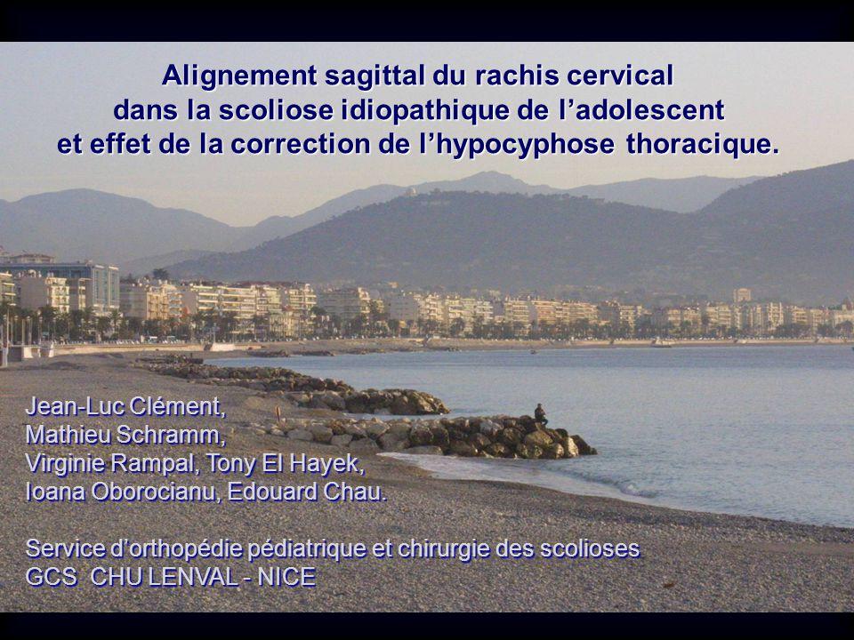 Alignement sagittal du rachis cervical