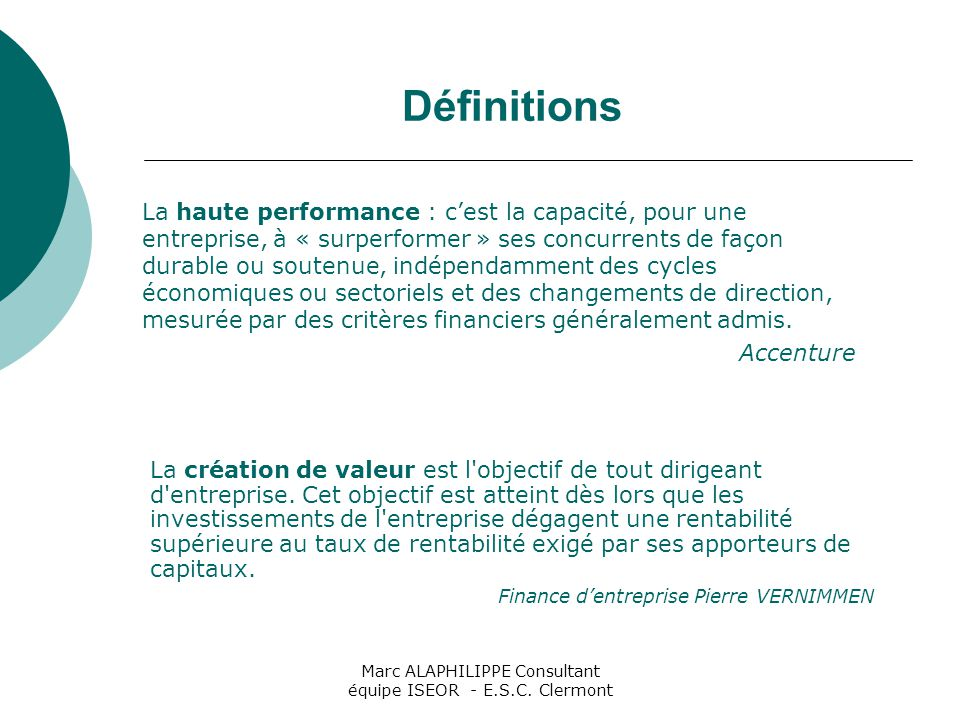Marc ALAPHILIPPE Consultant équipe ISEOR - E.S.C. Clermont