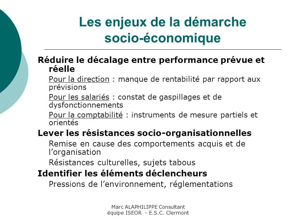 Les enjeux de la démarche socio-économique