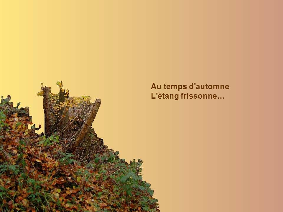 Au temps d automne L étang frissonne…