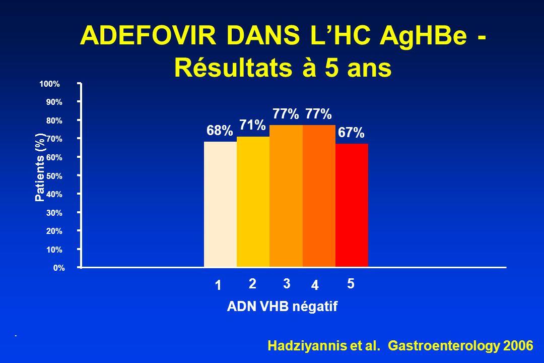 ADEFOVIR DANS L'HC AgHBe - Résultats à 5 ans