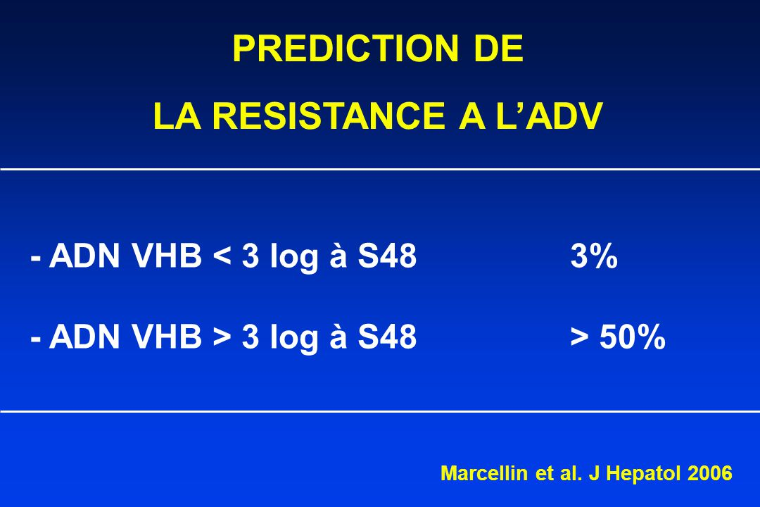 PREDICTION DE LA RESISTANCE A L'ADV