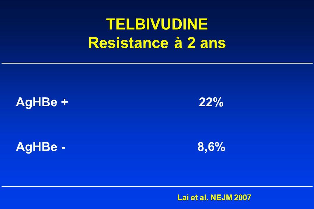 TELBIVUDINE Resistance à 2 ans