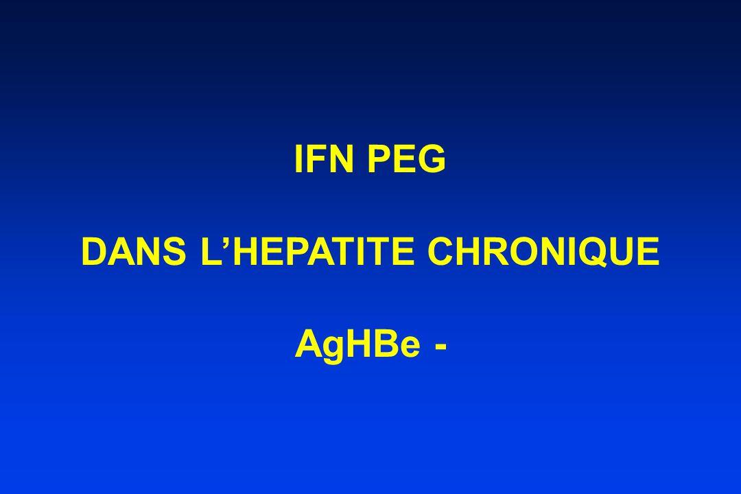 DANS L'HEPATITE CHRONIQUE