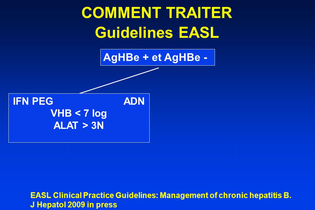 COMMENT TRAITER Guidelines EASL
