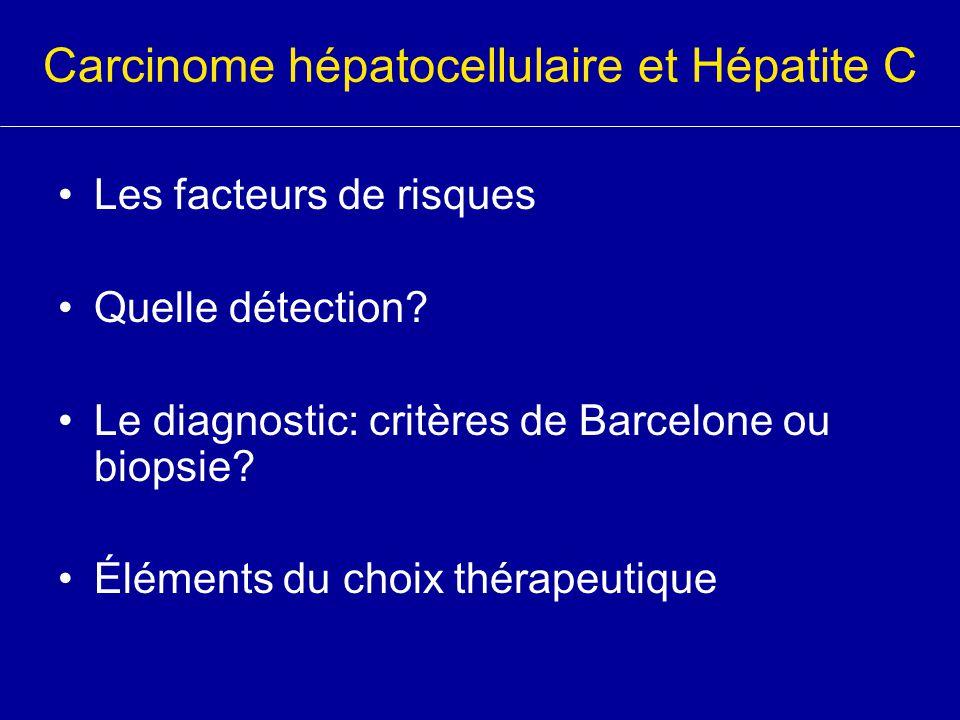 Carcinome hépatocellulaire et Hépatite C