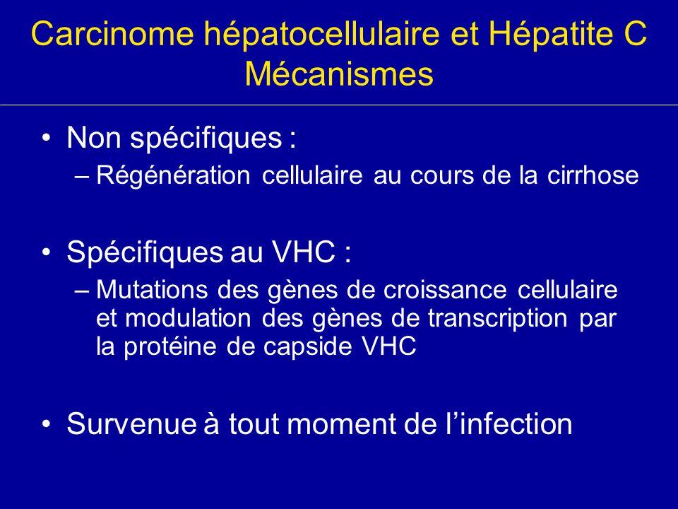 Carcinome hépatocellulaire et Hépatite C Mécanismes