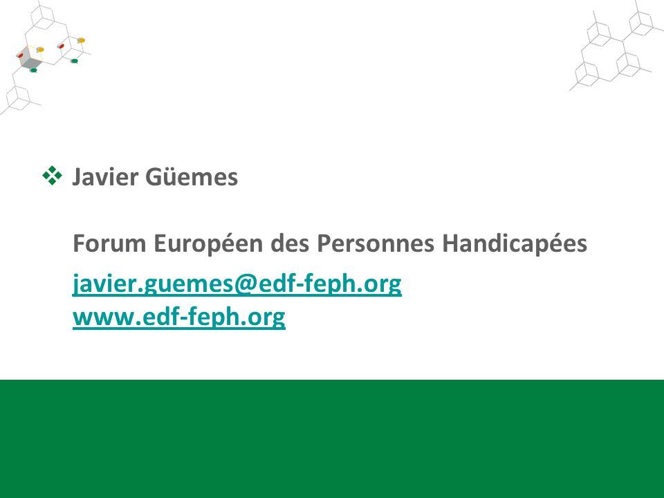 Javier Güemes Forum Européen des Personnes Handicapées