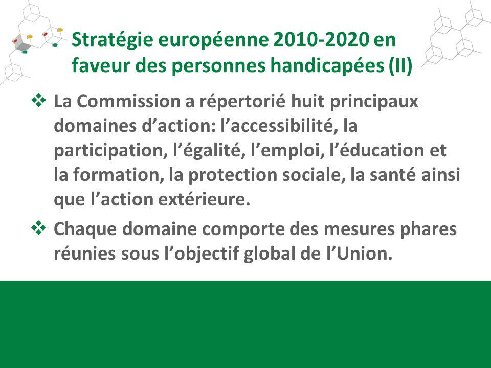 Stratégie européenne 2010-2020 en faveur des personnes handicapées (II)