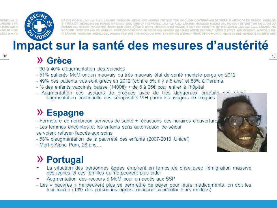 Impact sur la santé des mesures d'austérité