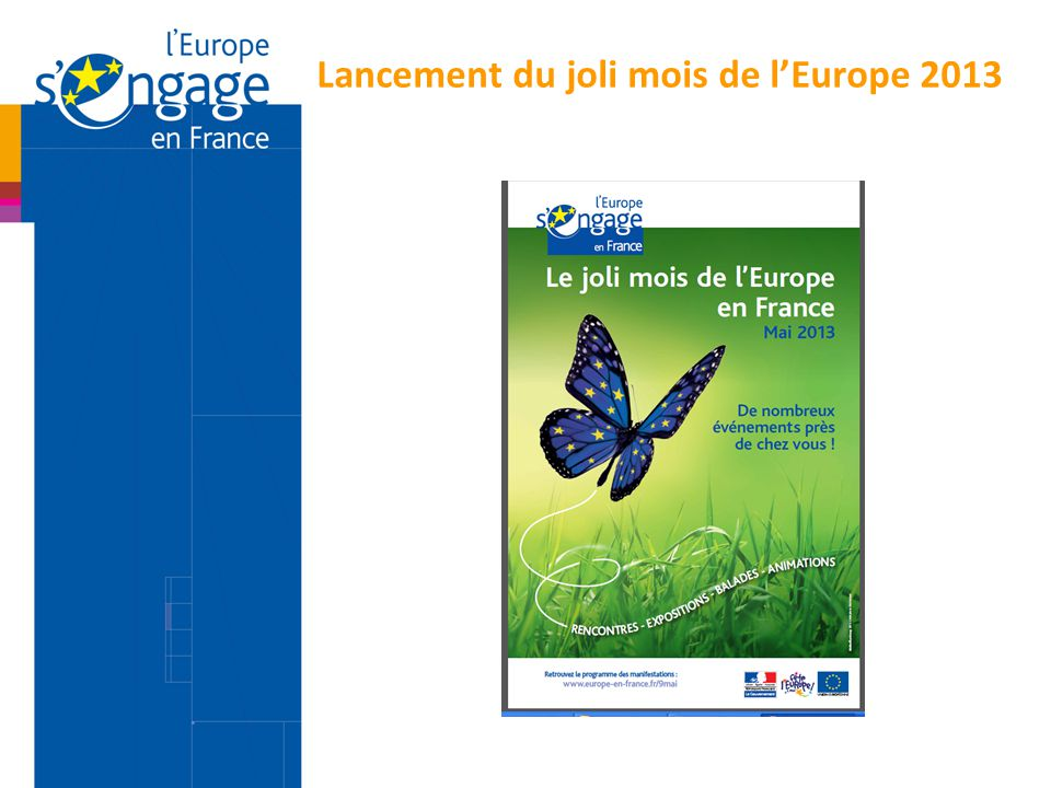 Lancement du joli mois de l'Europe 2013