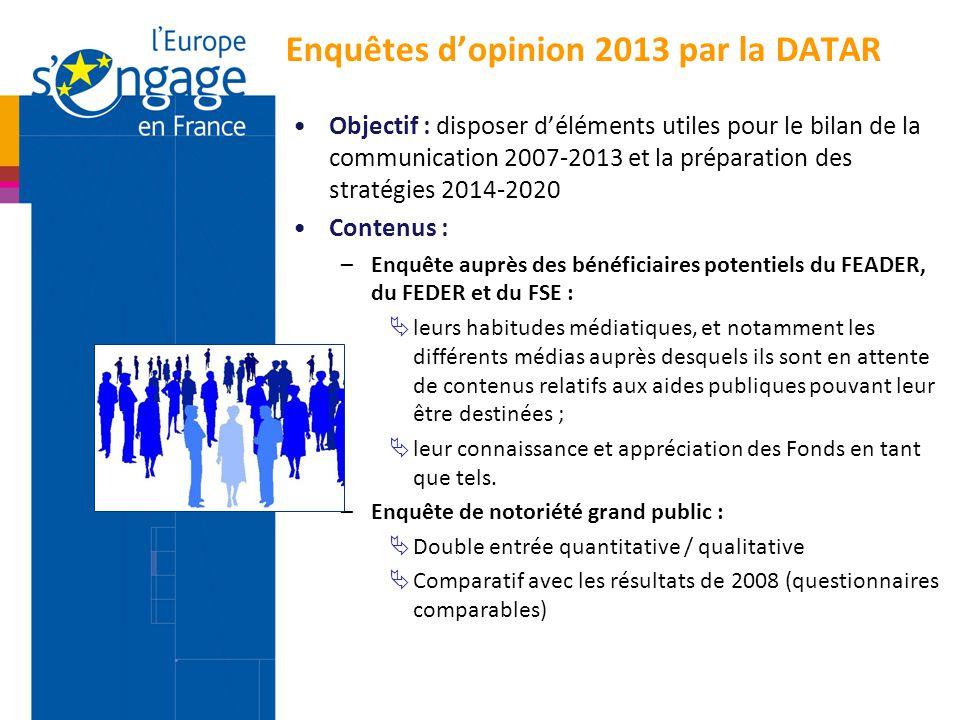 Enquêtes d'opinion 2013 par la DATAR