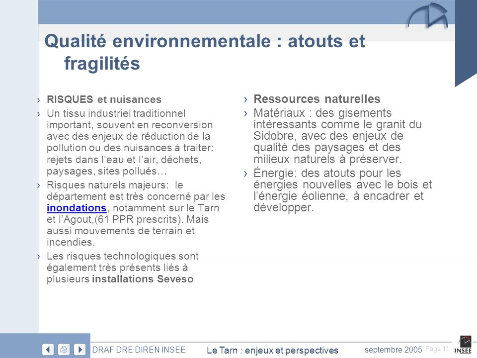 Qualité environnementale : atouts et fragilités