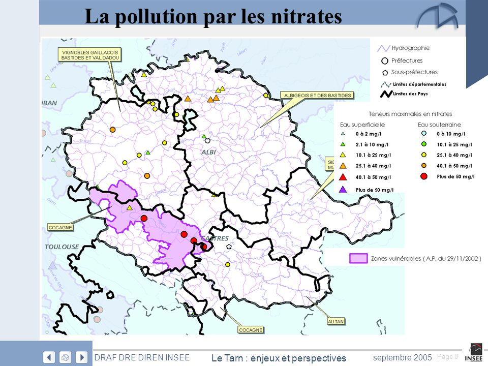 La pollution par les nitrates