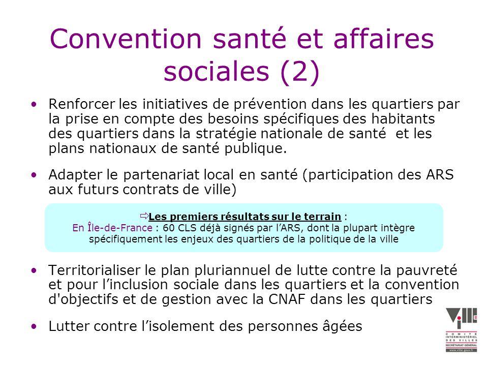 Convention santé et affaires sociales (2)