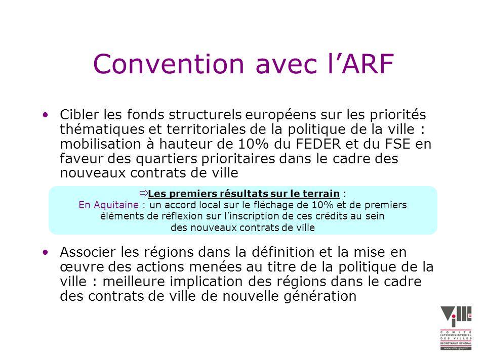 Convention avec l'ARF