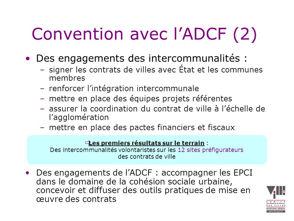 Convention avec l'ADCF (2)