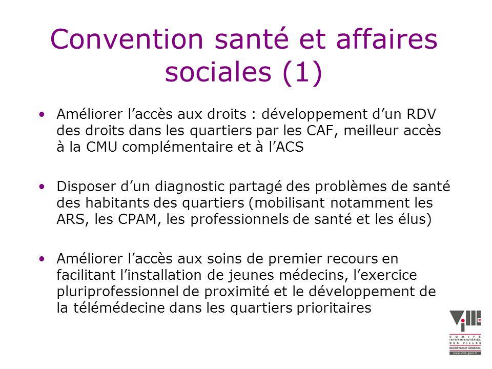 Convention santé et affaires sociales (1)