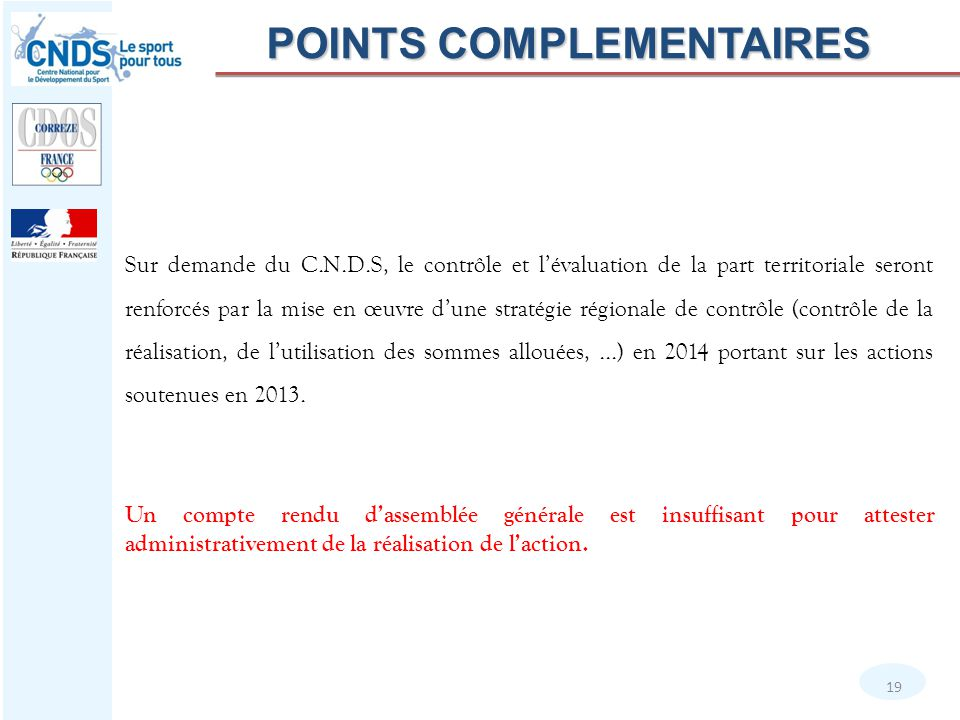 POINTS COMPLEMENTAIRES