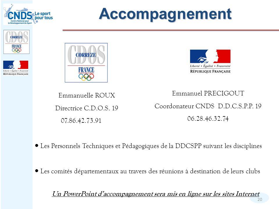 Coordonateur CNDS D.D.C.S.P.P. 19