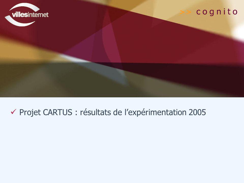 Projet CARTUS : résultats de l'expérimentation 2005