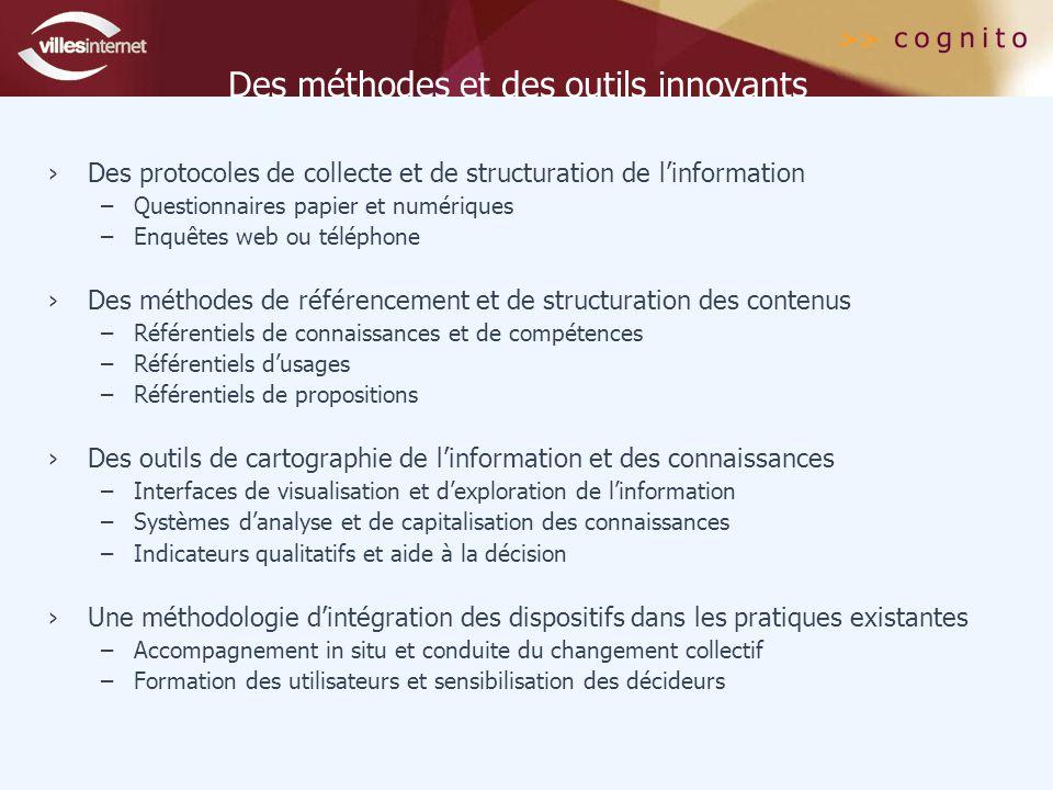 Des méthodes et des outils innovants