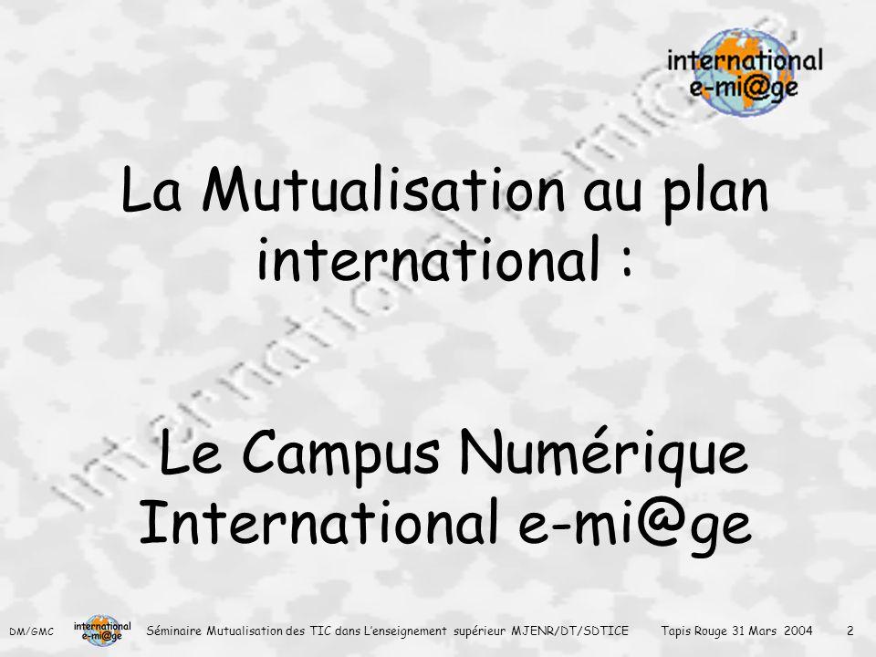 La Mutualisation au plan international :