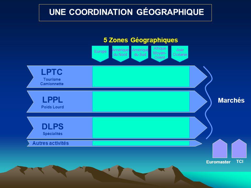 UNE COORDINATION GÉOGRAPHIQUE LPTC Tourisme Camionnette
