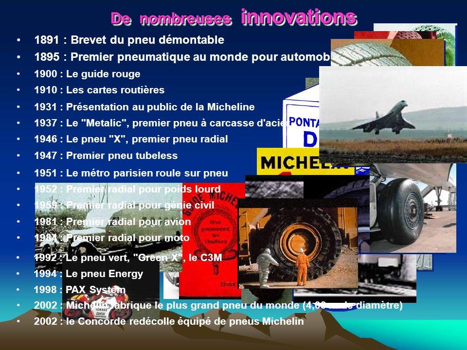 De nombreuses innovations