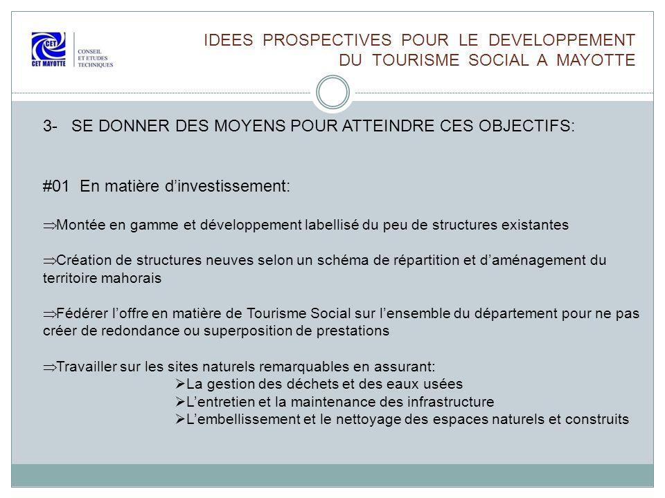 IDEES PROSPECTIVES POUR LE DEVELOPPEMENT DU TOURISME SOCIAL A MAYOTTE