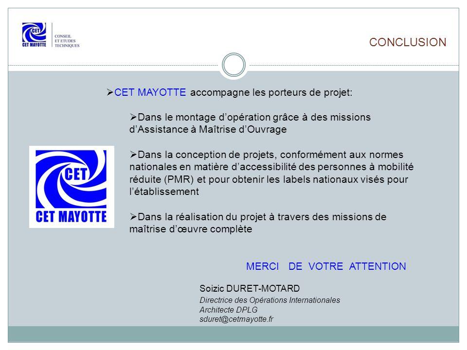 CONCLUSION CET MAYOTTE accompagne les porteurs de projet:
