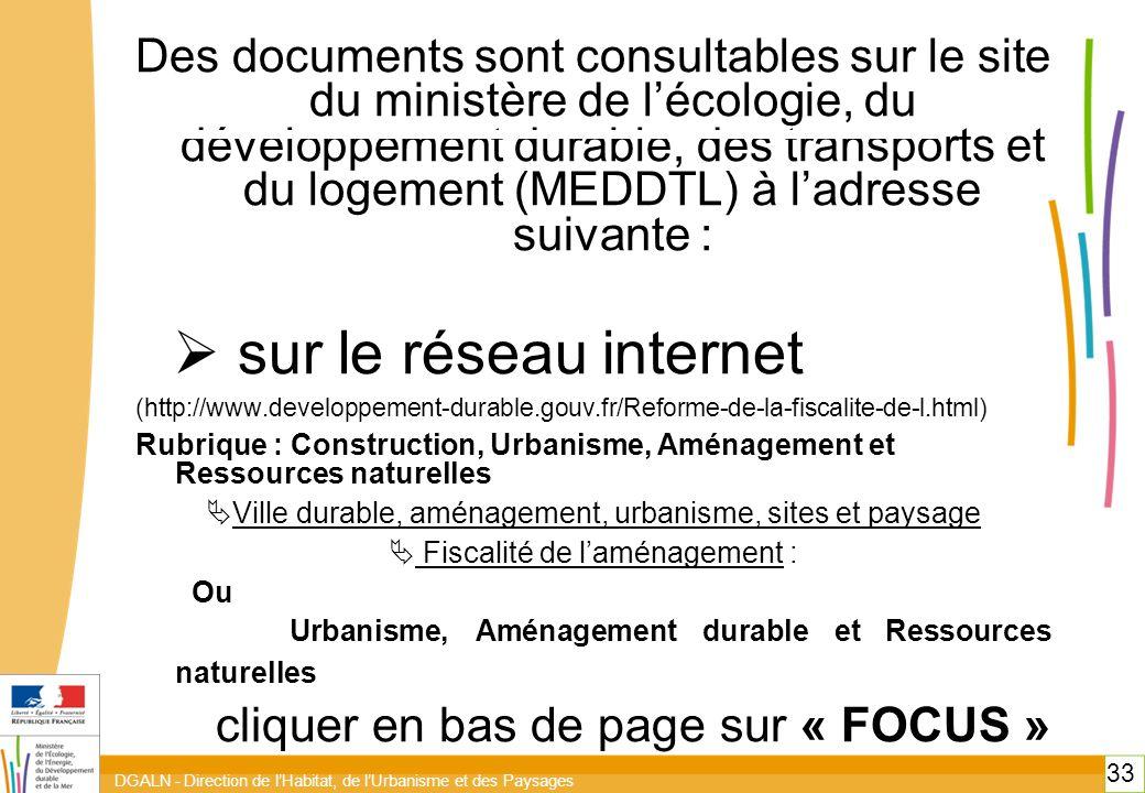 sur le réseau internet cliquer en bas de page sur « FOCUS »