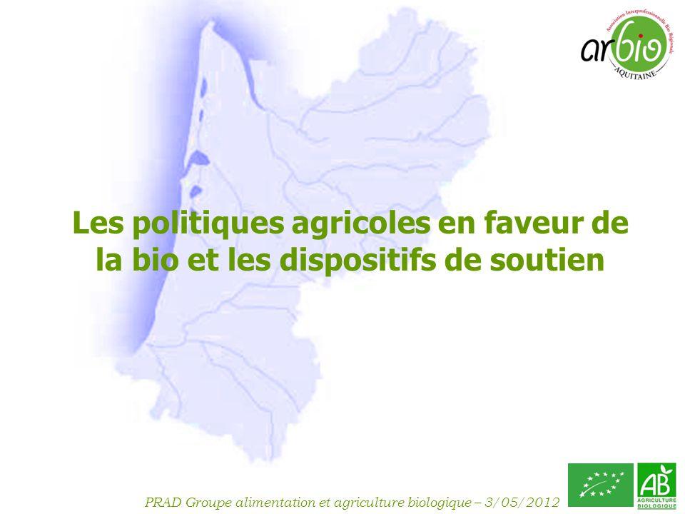 Les politiques agricoles en faveur de la bio et les dispositifs de soutien