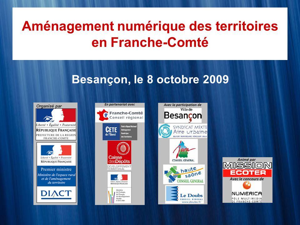 Aménagement numérique des territoires en Franche-Comté