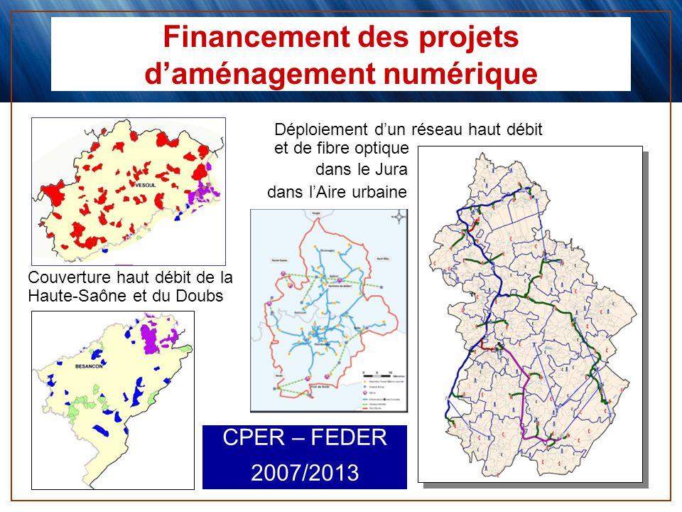 Financement des projets d'aménagement numérique