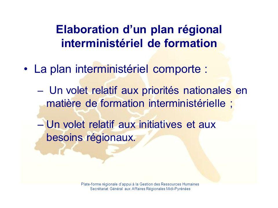 Elaboration d'un plan régional interministériel de formation