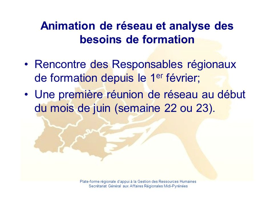 Animation de réseau et analyse des besoins de formation