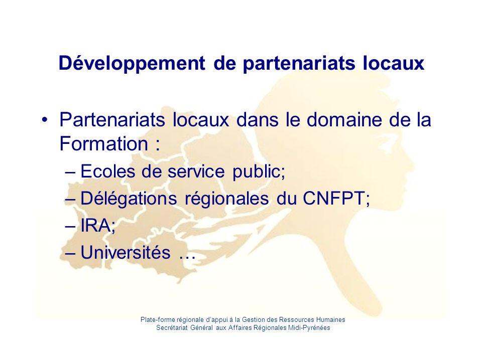 Développement de partenariats locaux
