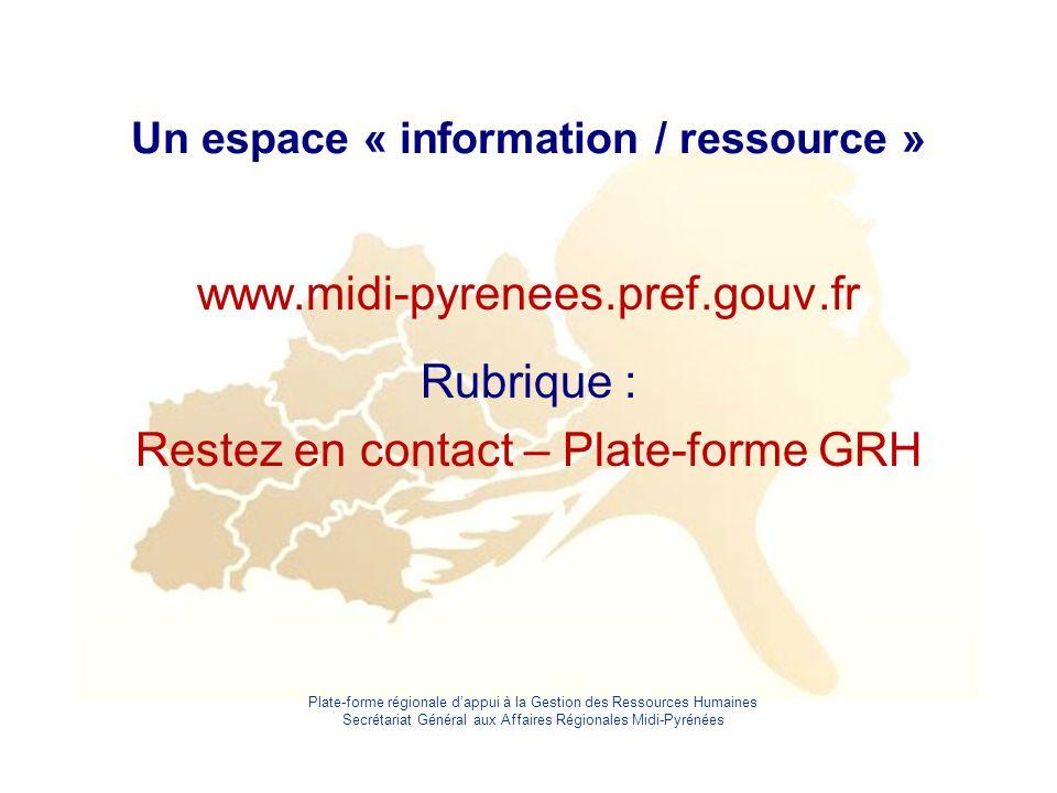 Un espace « information / ressource »